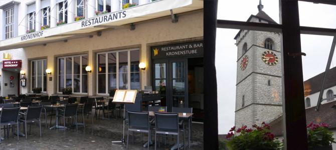 教会前ホテル(Kronenhof)でのディナーと朝食