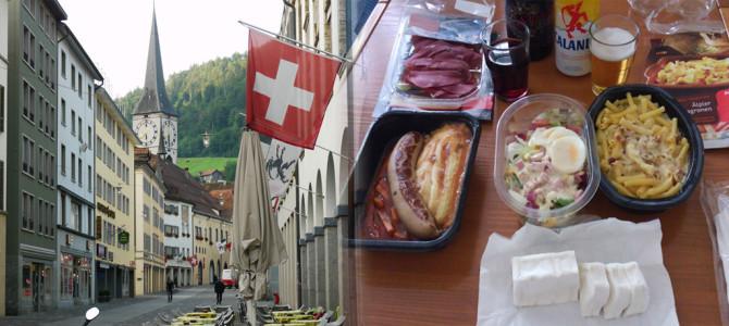 出発地クール(Chur)とホテルでCOOP食
