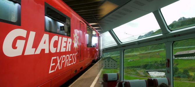 氷河特急(Glacier Express)パノラマバーなど