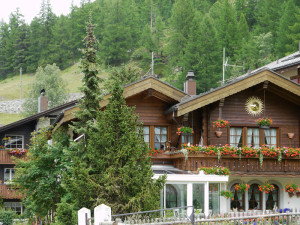 ツェルマットの村の家々