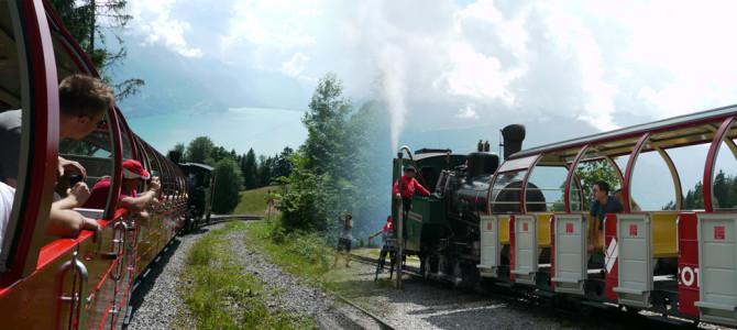 SL登山鉄道でロートホルン(BrienzerRothorn)