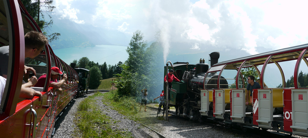 ブリエンツ・ロートホルンへのSL蒸気機関車