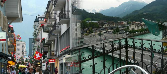 インターラーケン(Interlaken)ホテルから花火