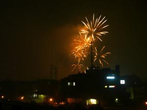 インターラーケンでの建国記念日の花火