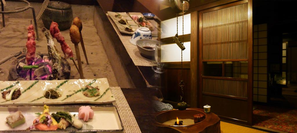 長座_炉端料理と囲炉裏のある部屋