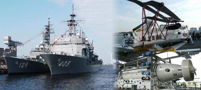 横浜港での自衛隊観艦式
